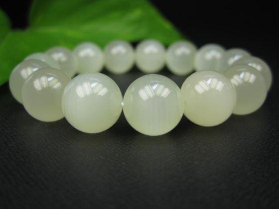 【ブレスレット】グリーンレースカルサイト(カーボナイト)品質AAAΦ13.7±0.2mm