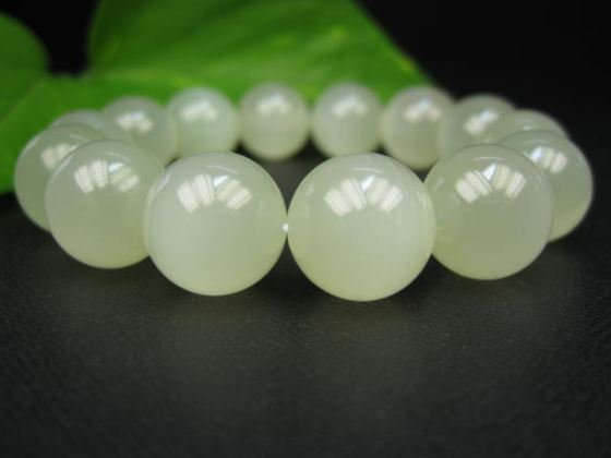 【ブレスレット】グリーンレースカルサイト(カーボナイト)品質AAAΦ15.3±0.2mm
