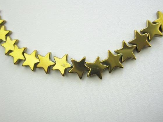 【連売り商品】ゴールドヘマタイト品質AAA星型カット10×2.5mm