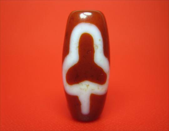 【チベット彫刻梵字天珠】菩提聖観音天珠(サ)