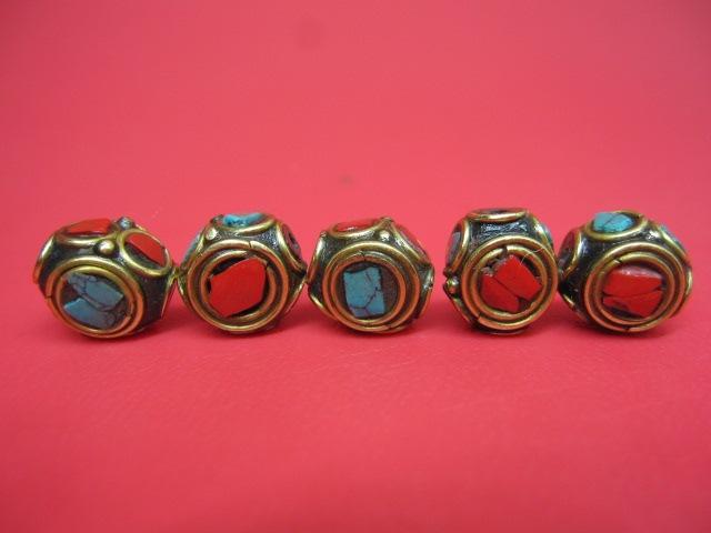 ご注文で当日配送 日本正規代理店品 粒売り チベットアンティークビーズ11×8.5±0.5mm 10粒SET