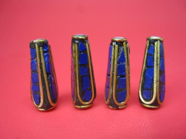 AL完売しました。 激安通販ショッピング 粒売り チベットアンティークビーズ19×6.5±0.5mm 8粒SET