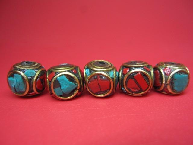 粒売り チベットアンティークビーズ10×9.5±0.5mm 10粒SET クリアランスsale 期間限定 セール品