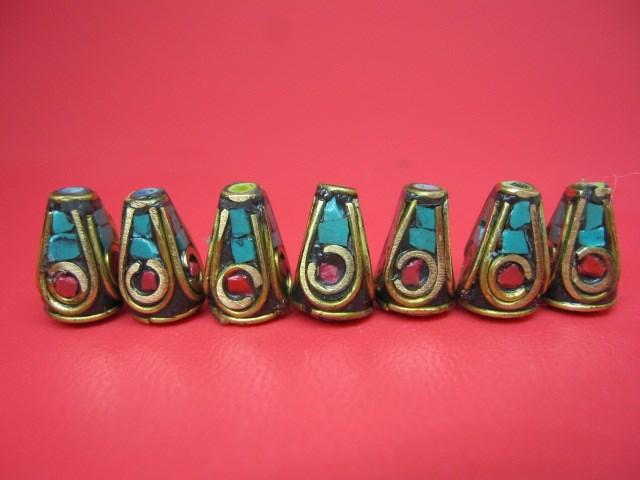 粒売り 上品 本店 チベットアンティークビーズ8×12±0.5mm 10粒SET