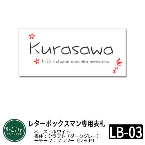 【ステンレス表札】 レターボックスマン専用 ネームプレート デザインコード:LB03