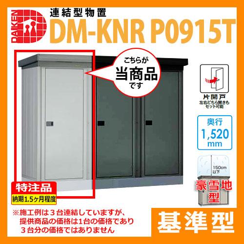 【マンション収納】豪雪地型 基準型 DM-KNR-P0915-T 間口920×奥行1520×高さ2120(mm土台寸法) ダイケン 連結型物置 特注品 送料無料(代引不可)