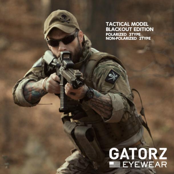 GATORZ タクティカルモデル (BLACKOUT EDITION)非偏光 UVレンズモデル