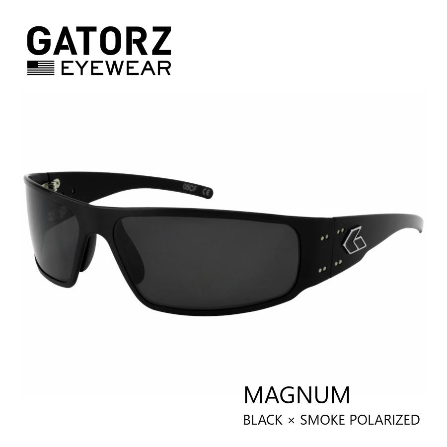 GATORZ MAGNUM BLACK × SMOKE POLARIZED偏光 レンズモデル