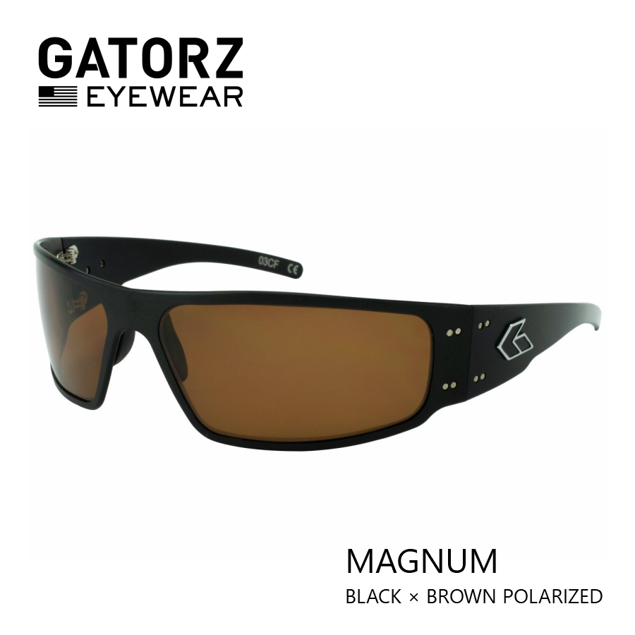 GATORZ MAGNUM BLACK × BROWN POLARIZED偏光 レンズモデル