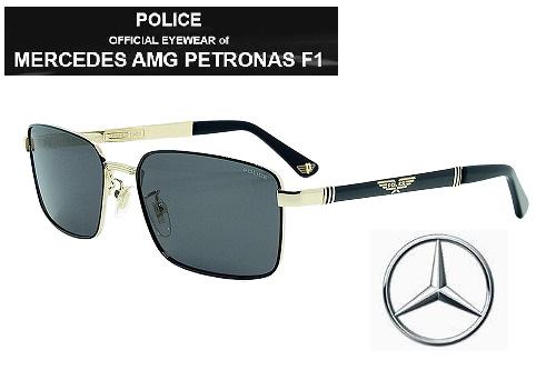 POLICE ポリスサングラス SPLA54-301P MERCEDES AMG PETRONAS 偏光レンズ メンズ レディス【クリーナープレゼント】【あす楽】