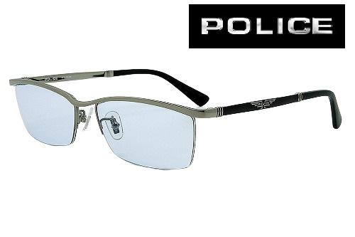 POLICE カスタムサングラス VPLB04J-568 BLUE 槙野智章モデル 国内正規品 チタン メンズ レディス【クリーナープレゼント】【あす楽】
