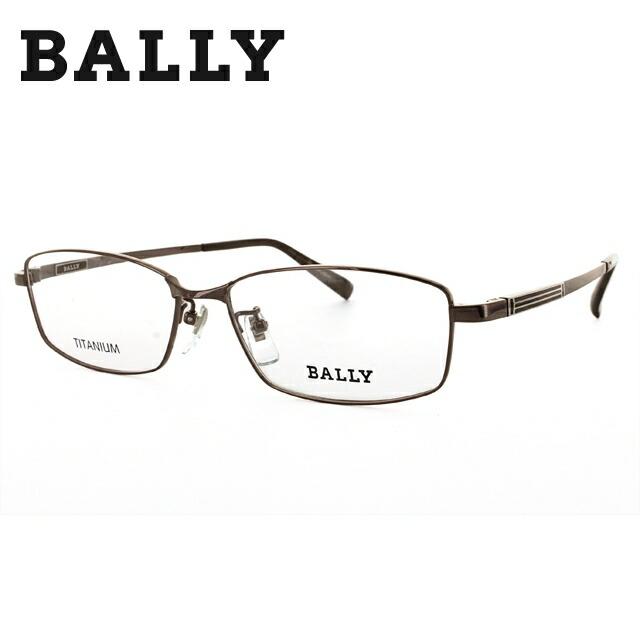 バリー メガネフレーム BALLY 度付き 度なし 伊達 だて 眼鏡 メンズ レディース BY3017J 1 56 ブラウン スクエア型 UVカット 紫外線 【国内正規品】