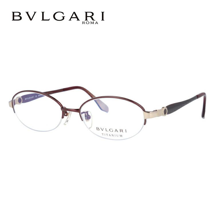 ブルガリ 眼鏡 伊達メガネ対応 国内正規品 BV2115T-4051 53 WINE RED ワインレッド オーバル ハーフリム レディース