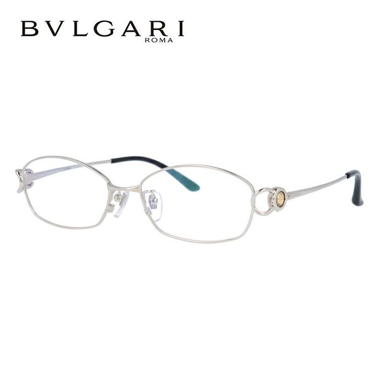ブルガリ 眼鏡 伊達メガネ対応 国内正規品 BV2064TG 420 53 シルバー ダイヤモンド レディース 【スクエア型】