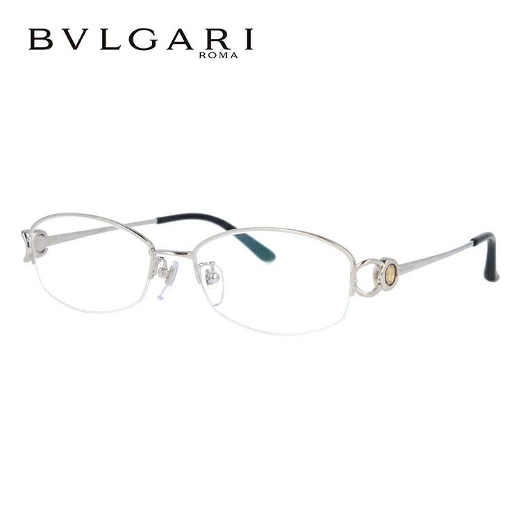 ブルガリ 眼鏡 伊達メガネ対応 国内正規品 BV2065TG 420 54 シルバー ダイヤモンド レディース 【スクエア型】