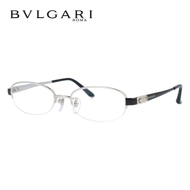 ブルガリ 眼鏡 伊達メガネ対応 BV2077TK 4020 51 シルバー/ブラック レディース 【国内正規品】