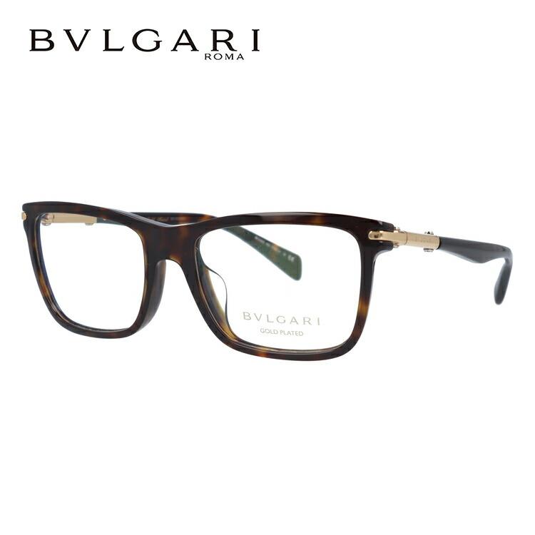 ブルガリ 伊達メガネ 眼鏡 国内正規品 BVLGARI オクト BV3031KF 5286 55 ダークハバナ/ゴールド アジアンフィット OCTO レディース 【ウェリントン型】