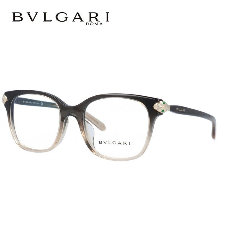 ブルガリ 伊達メガネ 眼鏡 セルペンティ フルフィット(アジアンフィット) BVLGARI SERPENTI BV4158BF 5450 52サイズ 国内正規品 ウェリントン