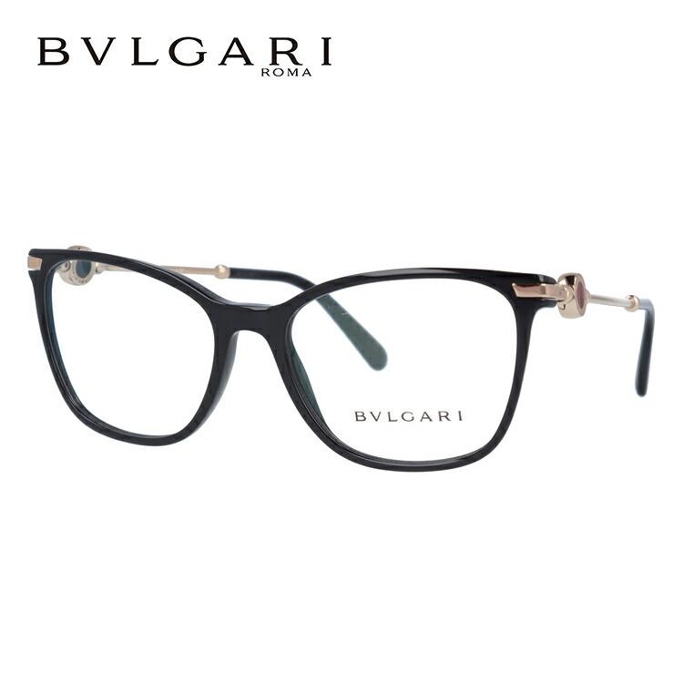 ブルガリ 伊達メガネ 眼鏡 レギュラーフィット BVLGARI BV4169 501 54サイズ 国内正規品 ウェリントン レディース