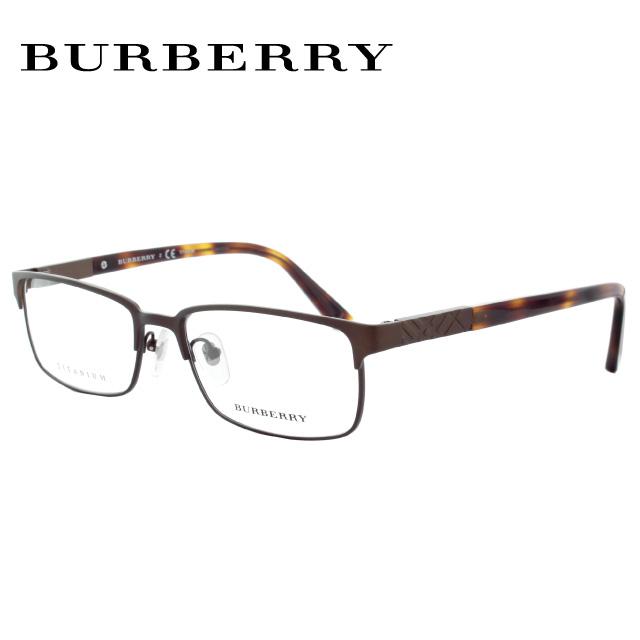 バーバリー 伊達メガネ 眼鏡 BURBERRY 国内正規品 BE1296TD 1012 55 マットブラウン/ハバナ 調整可能ノーズパッド レディース メンズ 【スクエア型】