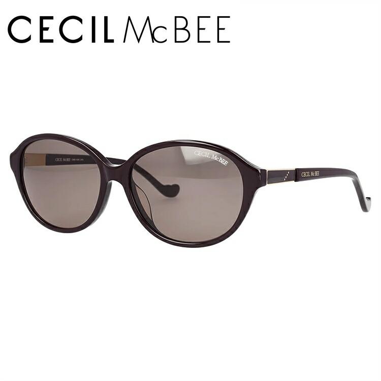 セシルマクビー サングラス アジアンフィット CECIL McBEE CMS 1050-3 56サイズ オーバル レディース