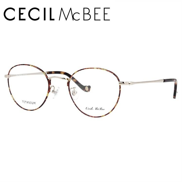 セシルマクビー 伊達メガネ 眼鏡 CECIL McBEE CMF 3022-1 49サイズ ボストン レディース