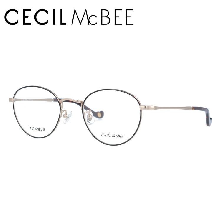 セシルマクビー 伊達メガネ 眼鏡 CECIL McBEE CMF 3022-4 49サイズ ボストン レディース