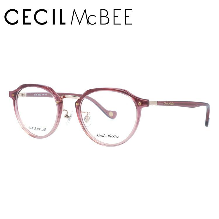 セシルマクビー メガネフレーム CECIL McBEE 度付き 度なし 伊達 だて 眼鏡 CMF 7046-4 49サイズ ボストン型 レディース 女性用 アイウェア UVカット 紫外線対策 UV対策 おしゃれ ギフト