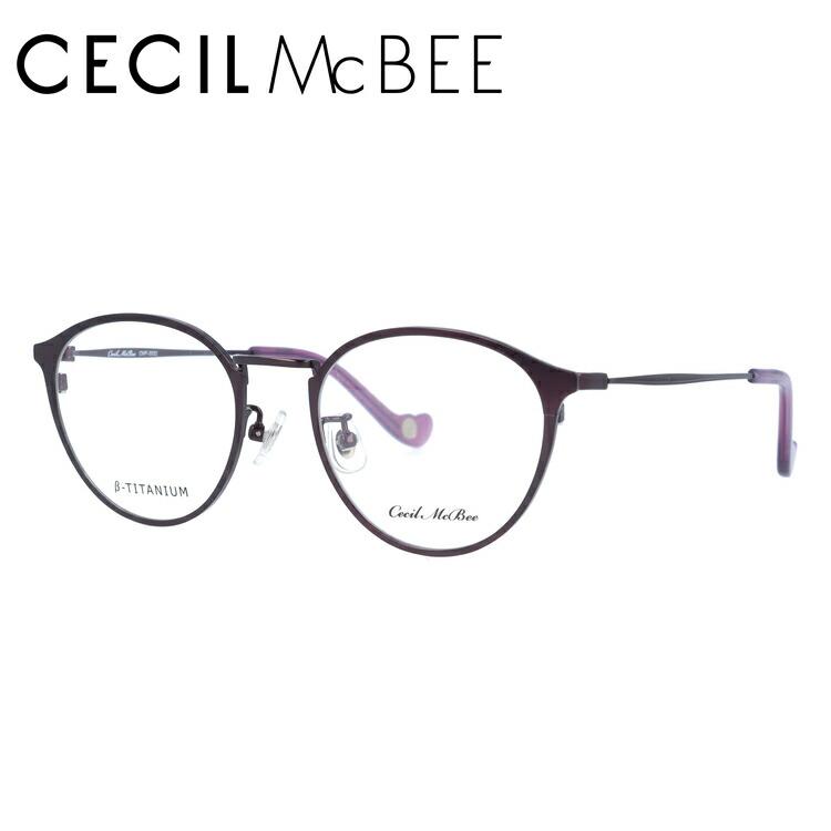 セシルマクビー 伊達メガネ 眼鏡 CECIL McBEE CMF 3032-3 47サイズ ボストン レディース