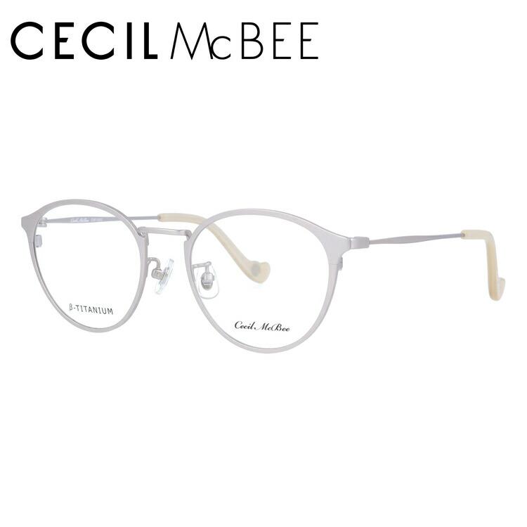 セシルマクビー 伊達メガネ 眼鏡 CECIL McBEE CMF 3032-4 47サイズ ボストン レディース