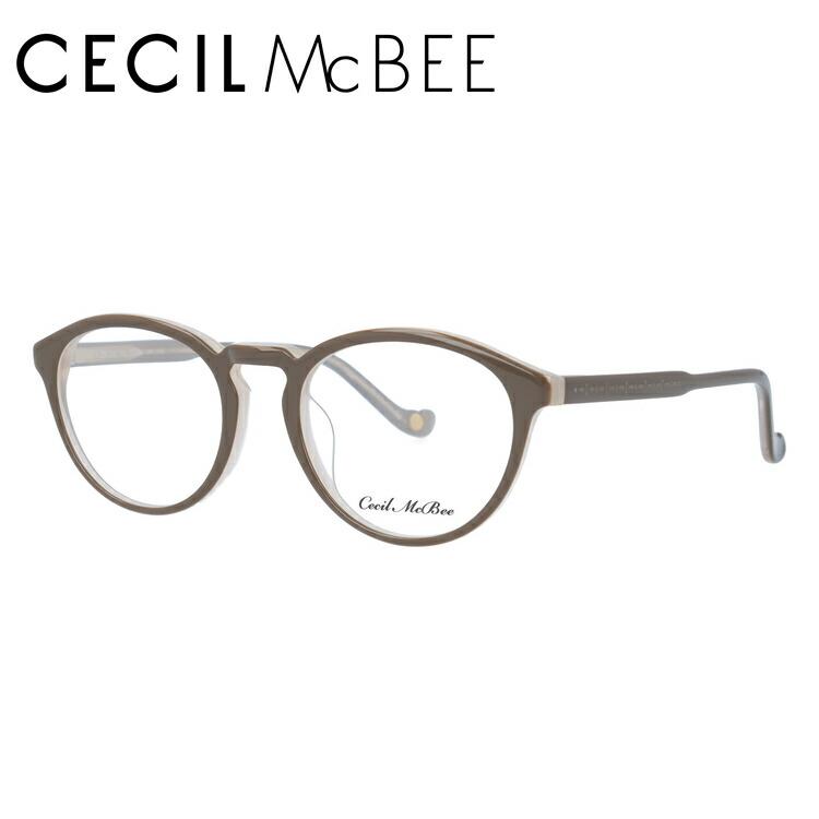 セシルマクビー メガネフレーム CECIL McBEE 度付き 度なし 伊達 だて 眼鏡 CMF 7048-2 48サイズ ボストン型 レディース 女性用 アイウェア UVカット 紫外線対策 UV対策 おしゃれ ギフト