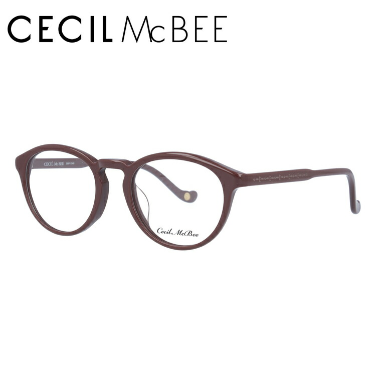 セシルマクビー 伊達メガネ 眼鏡 アジアンフィット CECIL McBEE CMF 7048-3 48サイズ ボストン レディース