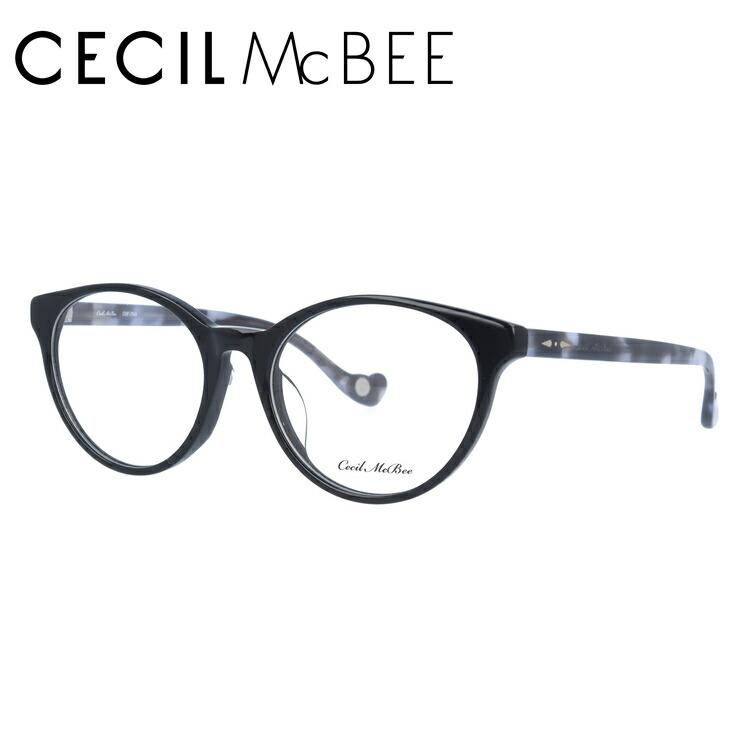 セシルマクビー 伊達メガネ 眼鏡 アジアンフィット CECIL McBEE CMF 7049-1 50サイズ ボストン レディース