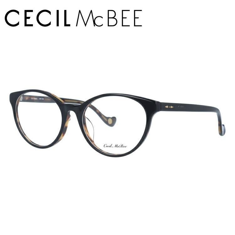 セシルマクビー 伊達メガネ 眼鏡 アジアンフィット CECIL McBEE CMF 7049-3 50サイズ ボストン レディース