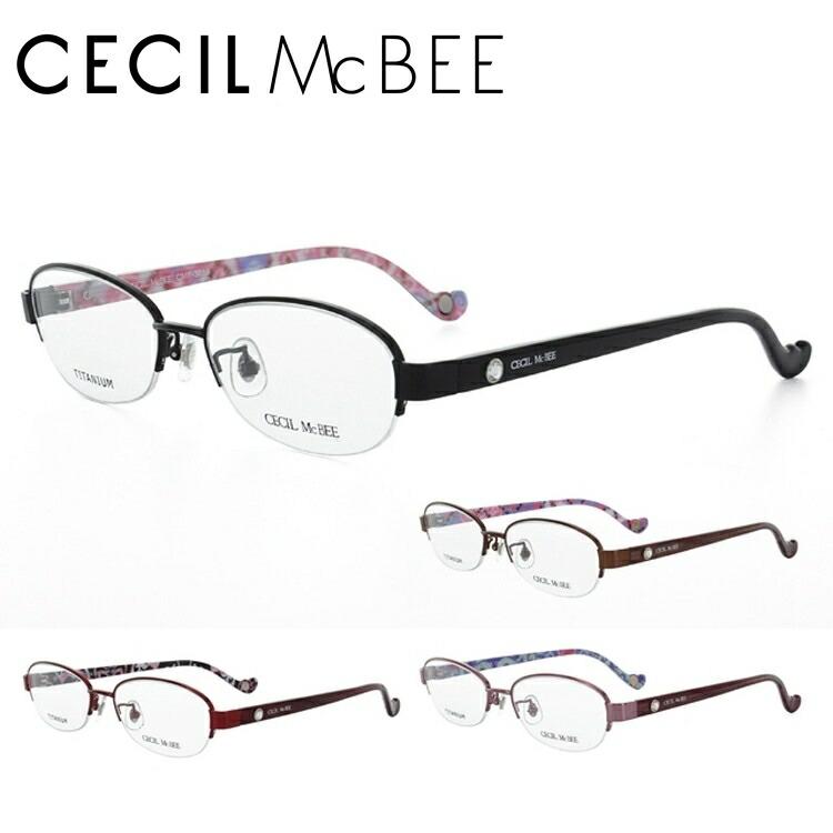 CECIL McBEE セシルマクビー 眼鏡 メガネ CMF3016-1/CMF3016-2/CMF3016-3/CMF3016-4 オーバル レディース