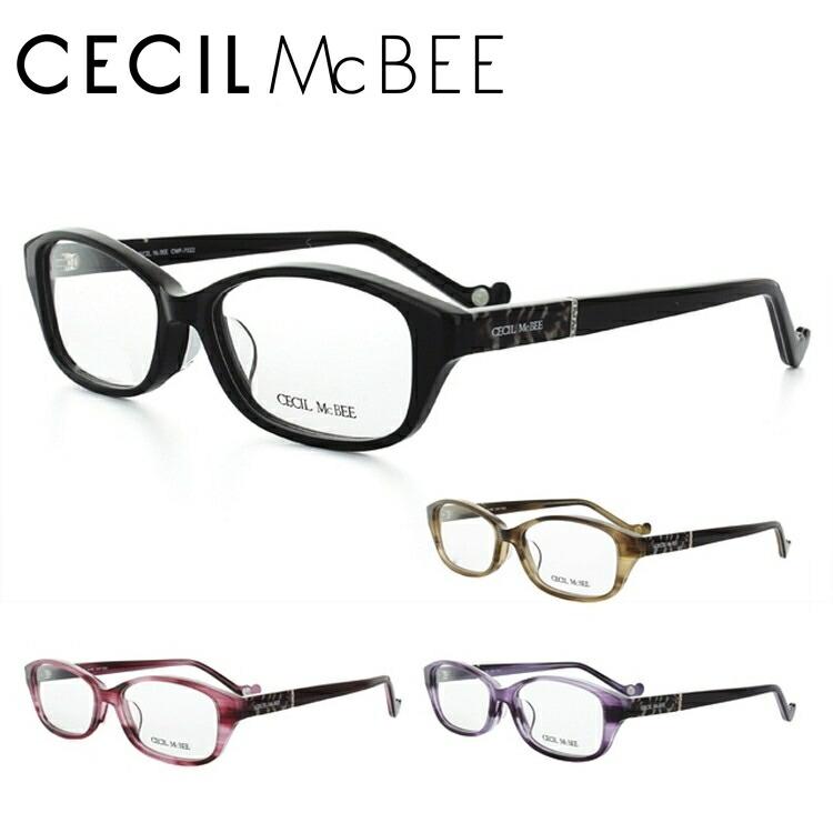 CECIL McBEE セシルマクビー 眼鏡 メガネ CMF7022-1/CMF7022-2/CMF7022-3/CMF7022-4 スクエア レディース【伊達・度付対応】