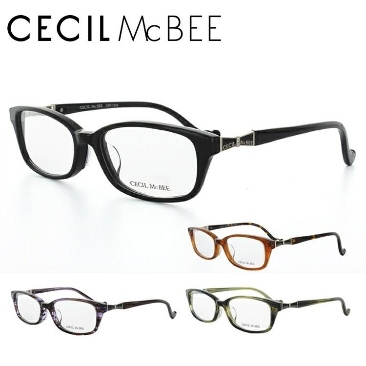 CECIL McBEE セシルマクビー 眼鏡 メガネ CMF7024-1/CMF7024-2/CMF7024-3/CMF7024-4 スクエア レディース【伊達・度付対応】
