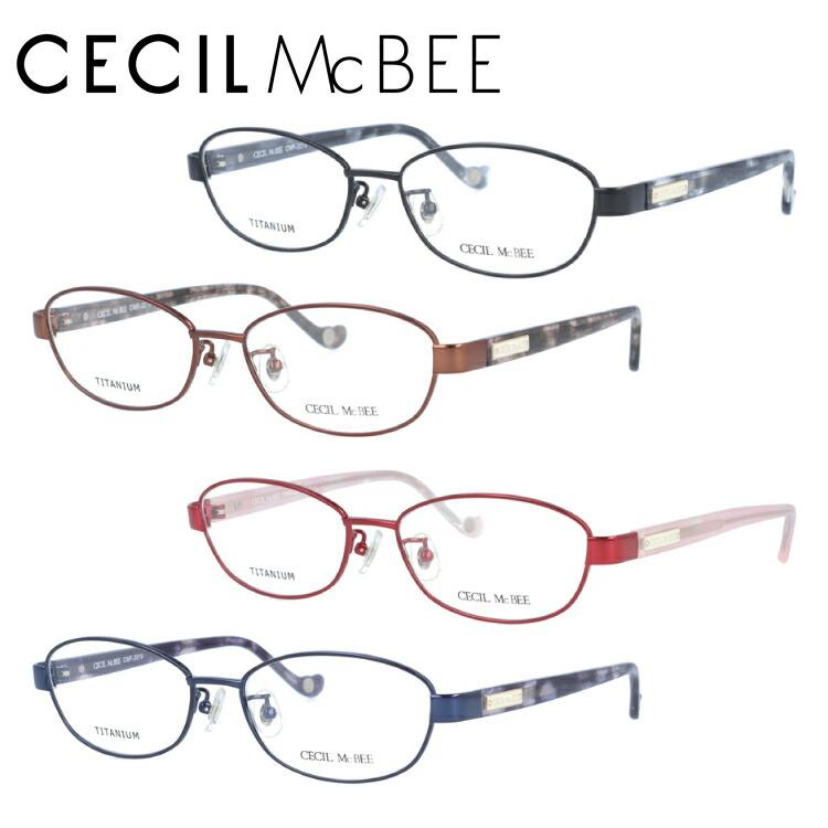 セシルマクビー 眼鏡 メガネ CECILMcBEE CMF3019-1/CMF3019-2/CMF3019-3/CMF3019-4 アジアンフィット レディース