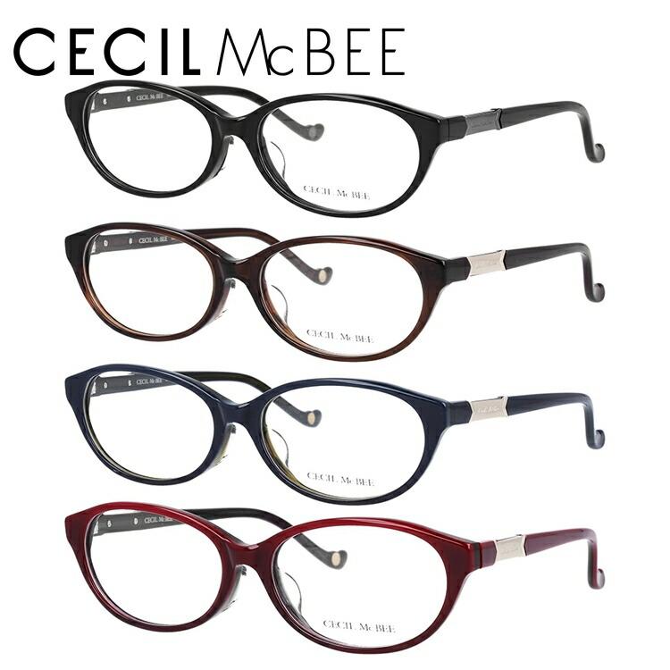セシルマクビー メガネフレーム CECIL McBEE 度付き 度なし 伊達 だて 眼鏡 CMF 7051 全4カラー 53サイズ オーバル型 レディース 女性用 アイウェア UVカット 紫外線対策 UV対策 おしゃれ ギフト