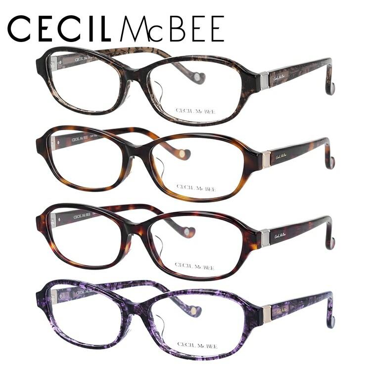 セシルマクビー 伊達メガネ 眼鏡 アジアンフィット CECIL McBEE CMF 7052 全4カラー 53サイズ オーバル レディース