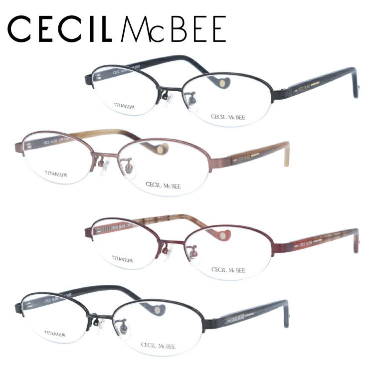 セシルマクビー メガネフレーム CECIL McBEE 度付き 度なし 伊達 だて 眼鏡 CMF 3029 全4カラー 51サイズ オーバル型 レディース 女性用 アイウェア UVカット 紫外線対策 UV対策 おしゃれ ギフト