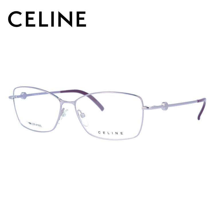 セリーヌ CELINE メガネ フレーム 眼鏡 度付き 度なし 伊達 VC1243 0SE3 55サイズ スクエア型 レディース ブラゾン アイコン ロゴ