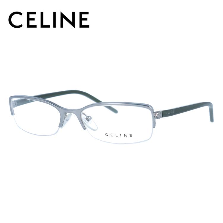 セリーヌ CELINE メガネ フレーム 眼鏡 度付き 度なし 伊達 VC1251M 0E42 53サイズ オーバル型 レディース ブラゾン アイコン ロゴ