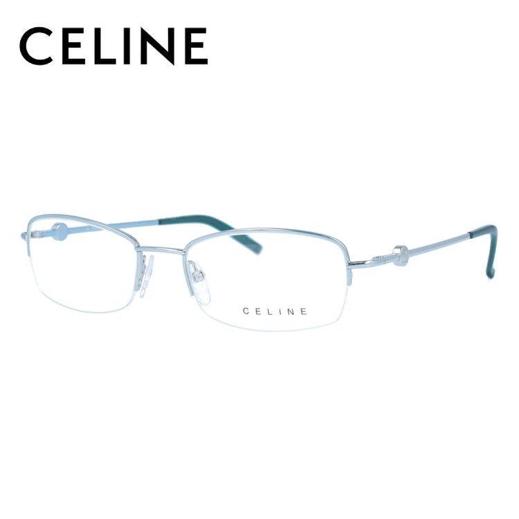 セリーヌ CELINE メガネ フレーム 眼鏡 度付き 度なし 伊達 VC1300 0SN2 51サイズ スクエア型 レディース ブラゾン アイコン ロゴ