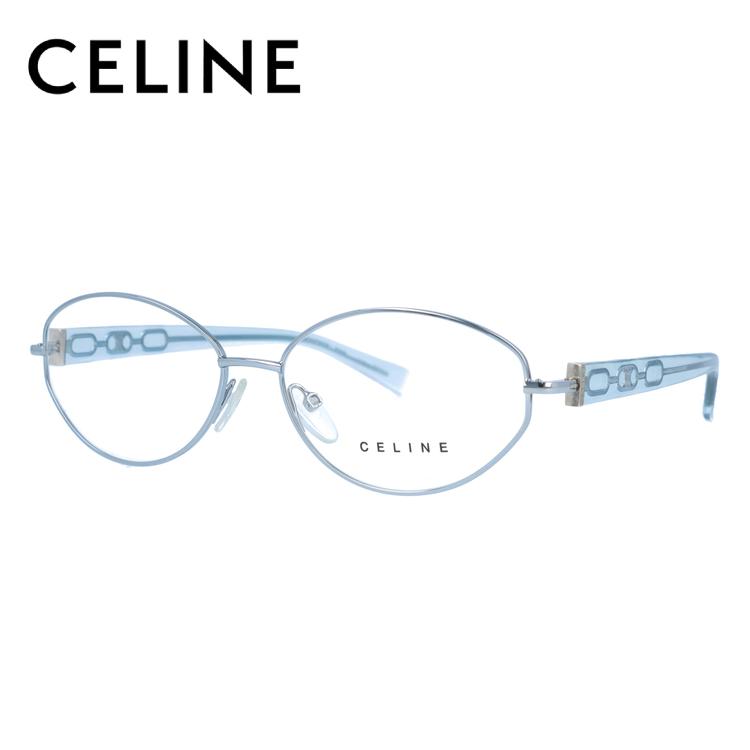 セリーヌ CELINE メガネ フレーム 眼鏡 度付き 度なし 伊達 VC1306M 0S58 55サイズ オーバル型 レディース ブラゾン アイコン ロゴ