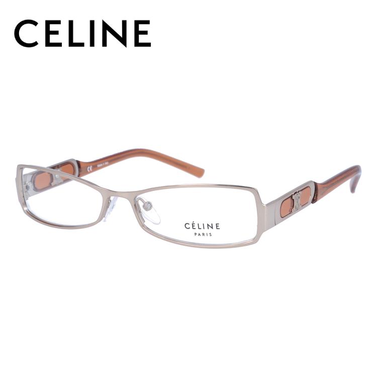メガネ 度付き 度なし 伊達メガネ カラーレンズ 眼鏡 CELINE セリーヌ レディース VC1451M 54サイズ 08FE レンズセット UVカット 紫外線 サングラス