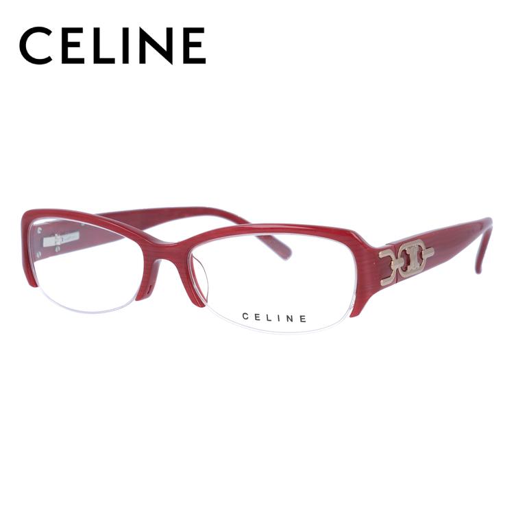 【訳あり】セリーヌ CELINE メガネ フレーム 眼鏡 度付き 度なし 伊達 アジアンフィット VC1706M 07P3 52サイズ スクエア型 レディース ブラゾン アイコン ロゴ