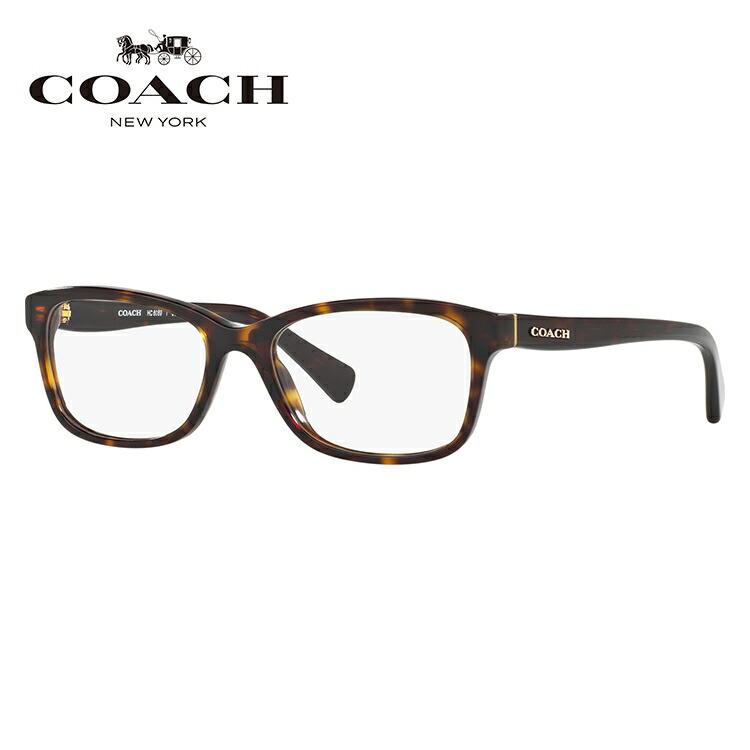 メガネ 度付き 度なし 伊達メガネ カラーレンズ 眼鏡 コーチ アジアンフィット COACH HC6089F 5120 51サイズ スクエア レンズセット UVカット 紫外線 サングラス