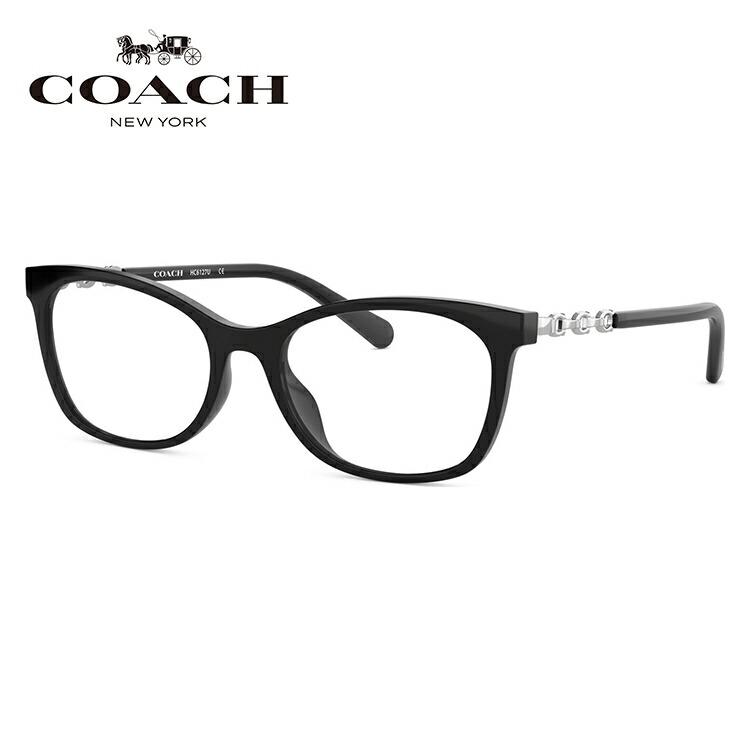 メガネ 度付き 度なし 伊達メガネ カラーレンズ 眼鏡 コーチ ユニバーサルフィット COACH HC6127U 5002 51サイズ スクエア レディース レンズセット UVカット 紫外線 サングラス