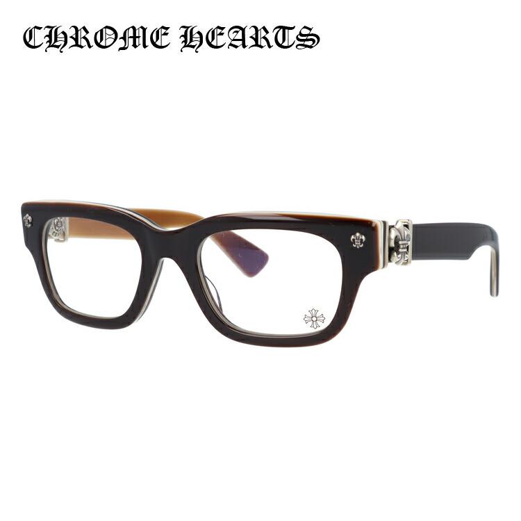 メガネ 度付き 度なし 伊達メガネ カラーレンズ 眼鏡 クロムハーツ レギュラーフィット CHROME HEARTS BANGADANG I BRBBR 50サイズ ウェリントン ユニセックス メンズ レディース レンズセット UVカット 紫外線 サングラス